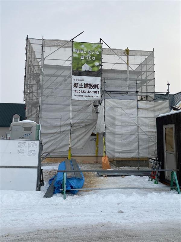 島松駅前(トライアル前)にモデルハウス着工中
